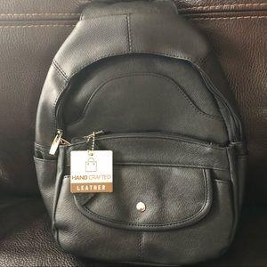 Brand new Genuine leather backpack/black